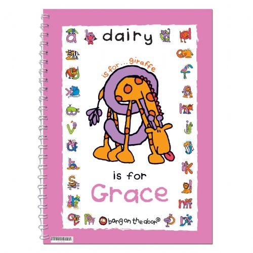 Personalised Bang On The Door Animal Alphabet Girls Diary